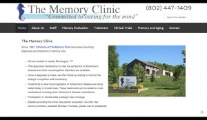 Memory Clinic Bennington, VT – Research and clinic trials for Alzheimer's Disease (1)